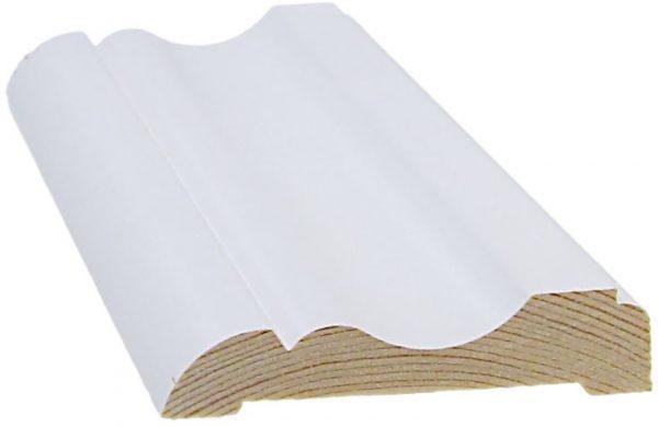 Peitelista koriste 15x69x2200 mm Nurmela valkoinen