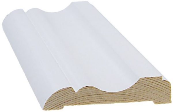 Peitelista koriste 15x69x3300 mm Nurmela valkoinen