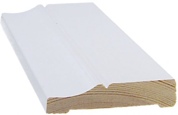 Peitelista koriste 15x70x3300 mm Penttilä valkoinen