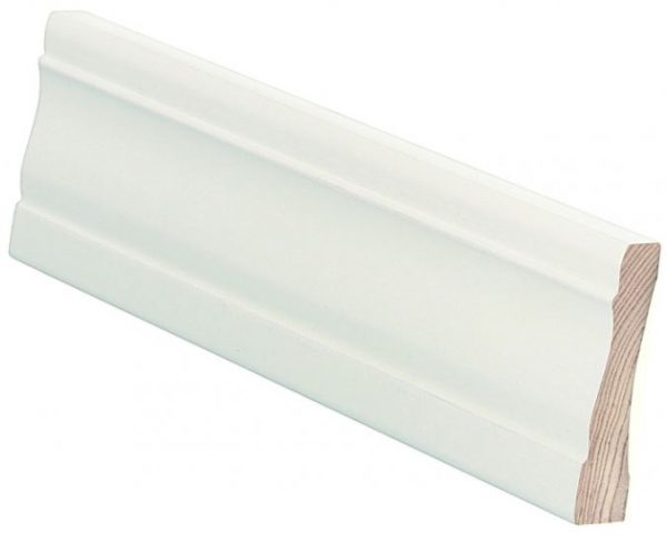 Peitelista koriste 15x70x3600 mm Muotiala valkoinen
