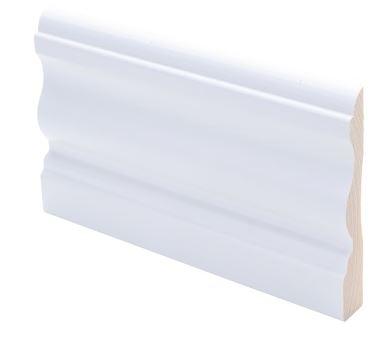 Peitelista koriste 15x90x2200 mm Laine valkoinen