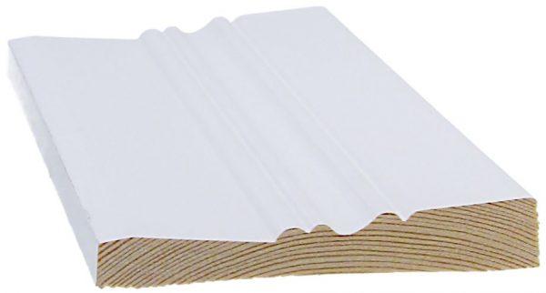 Peitelista koriste 15x95x3300 mm Ainola valkoinen
