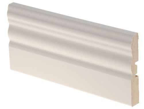 Peitelista koriste MDF 12x70x3300 mm Uurre valkoinen