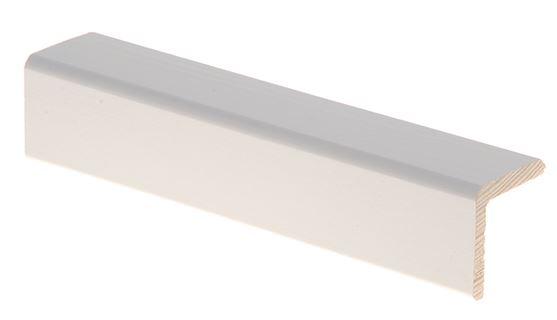 Reunalista 32x32/26x2700 mm Aava valkoinen