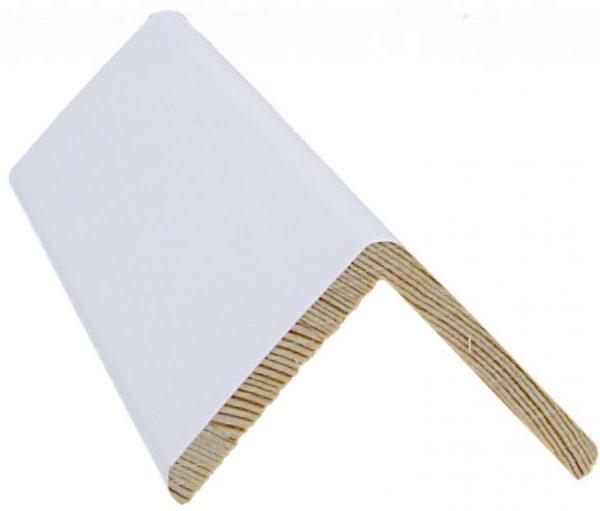 Reunalista 50x50/45x3300 mm valkoinen