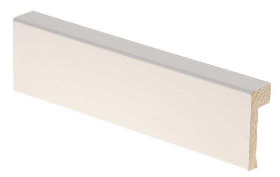 Reunalista MDF 16x42x/10x2200 mm valkoinen