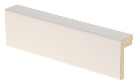 Reunalista MDF 21x42/13x2200 mm Smart valkoinen