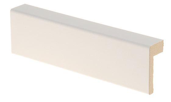 Reunalista MDF 21x42/13x2200 mm valkoinen