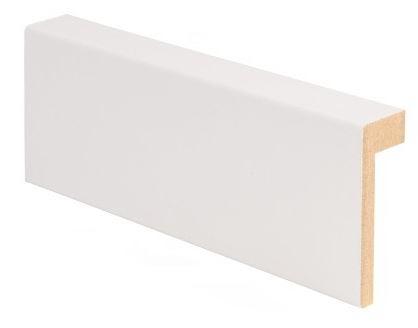 Reunalista MDF 21x58/13x2200 mm valkoinen