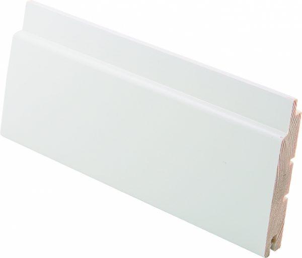 Sisustuspaneeli 15x95x2980 mm STP valkoinen