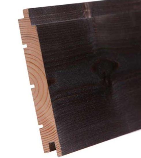 Sisustuspaneeli Aure 18x145x2370 mm STS/3 harjattu savusauna