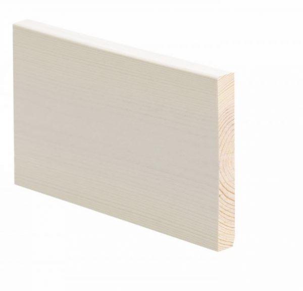 Smyygilista mänty 15x118x3300 mm saunasuojattu valkoinen