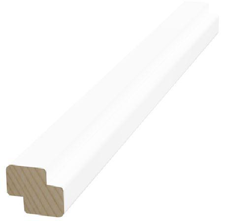 Varjolista 15x18x3300 mm valkoinen