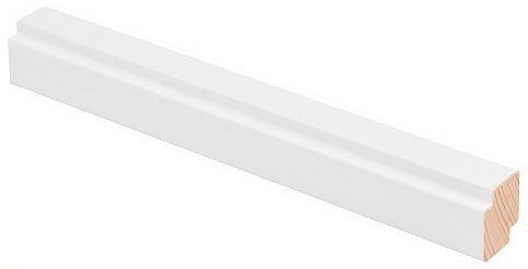Varjolista 16x19x3300 mm valkoinen