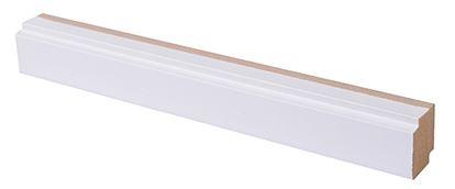 Varjolista MDF valkoinen 16x19x2750 mm Smart valkoinen