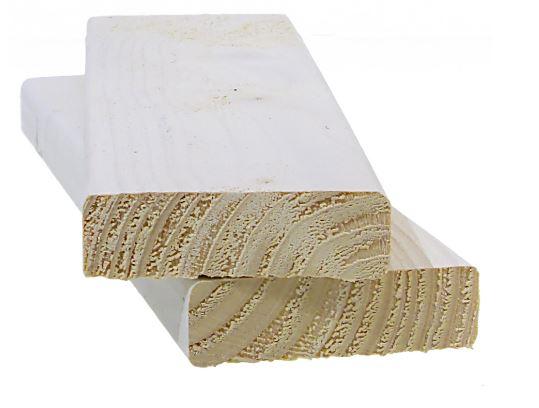 Aitalauta 20x68 mm pohjamaalattu valkoinen
