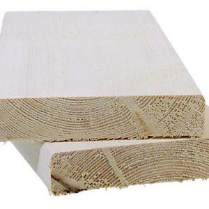 Aitalauta 20x95 mm pohjamaalattu valkoinen