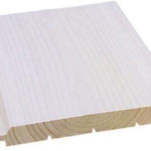 Hirsipaneeli 20x170 mm valkolakattu mänty