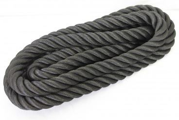 Kaideköysi keinohamppuköysi 36 mm musta 10 m/rulla