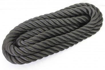 Kaideköysi keinohamppuköysi 36 mm musta 40 m/rulla