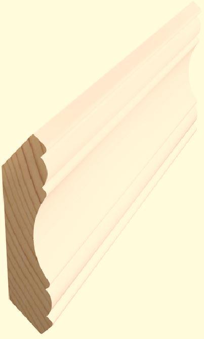Kattolista koriste 15x69x3600 mm Vanka valkoinen