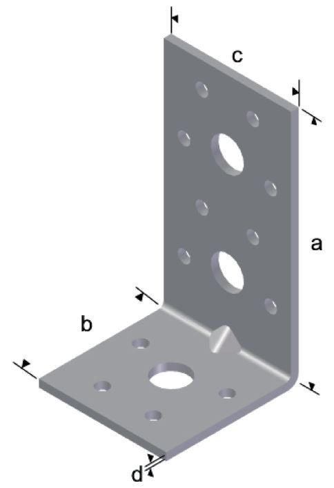 Kulmalevy 105x105x90x3 mm sinkitty