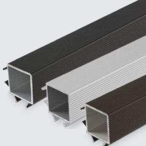 Luna TWPC kulmakoristelista 26mm vahvalle komposiittilaudalle harmaa 4000mm