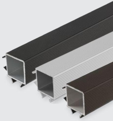 Luna TWPC kulmakoristelista 26mm vahvalle komposiittilaudalle musta 4000mm