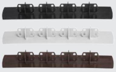 Luna TWPC päätytulppa 26mm vahvalle komposiittilaudalle musta 20 kpl/pss