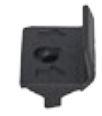 Luna TWPC piilokiinnike 26mm vahvalle komposiittilaudalle musta 250 kpl/pss