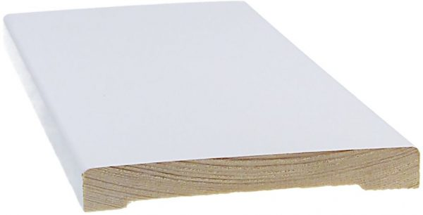 Peitelista 12x95x3600 mm valkoinen