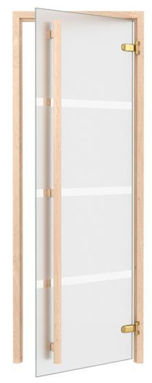 Saunanovi 8x19 Exclusive matta/raidat leppäkarmi