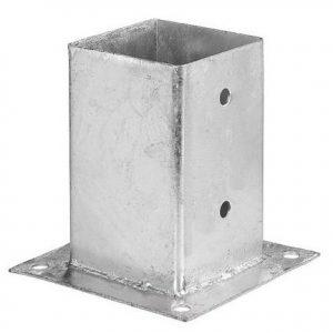 Teräsjalka B-malli 51x102x150 mm sinkitty
