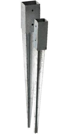 Teräsjalka kiilamalli 77x77x750 mm sinkitty