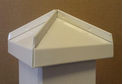 """Tolpanhattu teräs """"Classic"""" valkoinen 150x150 mm"""