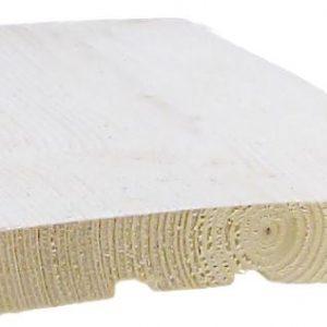 Ulkoverhouslauta 20x120 mm HSP pohjamaalattu valkoinen