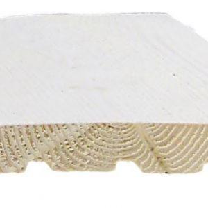 Ulkoverhouslauta 20x145 mm HSP pohjamaalattu valkoinen