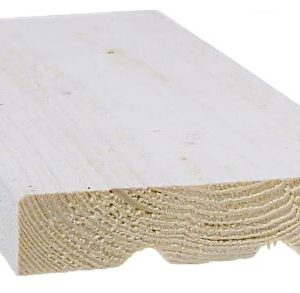 Ulkoverhouslauta 20x95 mm HSP pohjamaalattu valkoinen