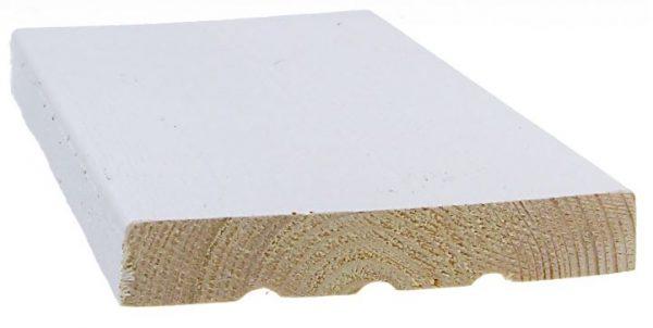 Ulkoverhouslauta 21x120 mm HSP 3-sivun pintamaalattu valkoinen