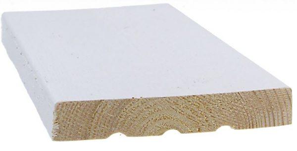 Ulkoverhouslauta 21x145 mm HSP 3-sivun pintamaalattu valkoinen