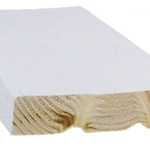 Ulkoverhouslauta 21x95 mm HSP 3-sivun pintamaalattu valkoinen