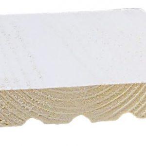 Ulkoverhouslauta 23x195 mm HSP pohjamaalattu valkoinen