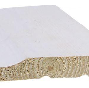 Ulkoverhouspaneeli 20x120 mm UTK pohjamaalattu valkoinen