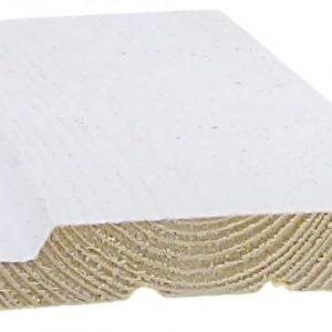 Ulkoverhouspaneeli 20x120 mm UTV pohjamaalattu valkoinen