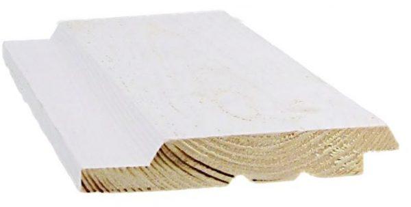 Ulkoverhouspaneeli 20x120 mm UYV pohjamaalattu valkoinen