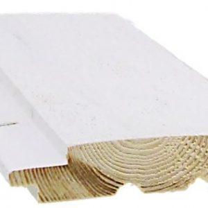 Ulkoverhouspaneeli 20x95 mm UTS pohjamaalattu valkoinen
