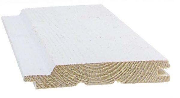Ulkoverhouspaneeli 23x145 mm UTV pohjamaalattu valkoinen