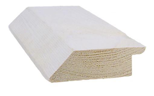 Ulkoverhousrima 28x93 mm jakolista pohjamaalattu valkoinen
