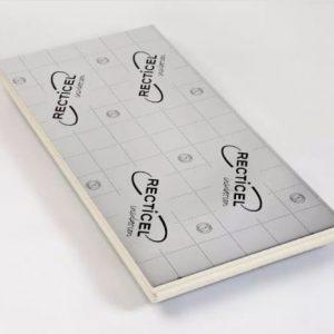 Uretaanilevy Recticel 120x1200x2400 mm alumiinipintainen ympäripontattu